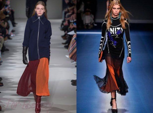 стильные юбки-плиссе 2018 2019: плиссе длинные