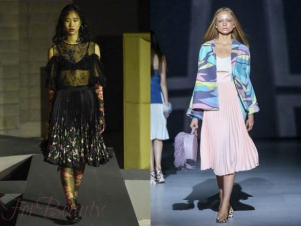 красивые юбки-плиссе 2018 года модные тенденции