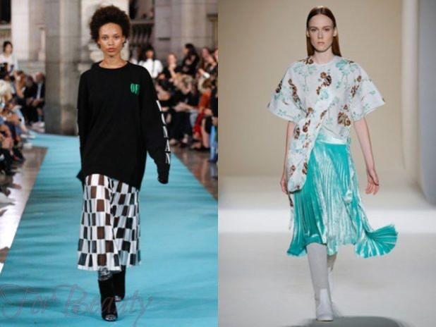 юбки 2018 2019 года модные тенденции: плиссе летние