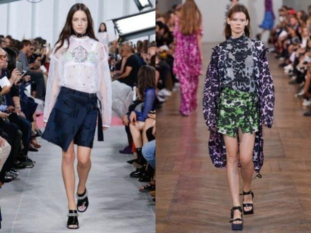 Модные короткие юбки с запахом 2018 2019 года