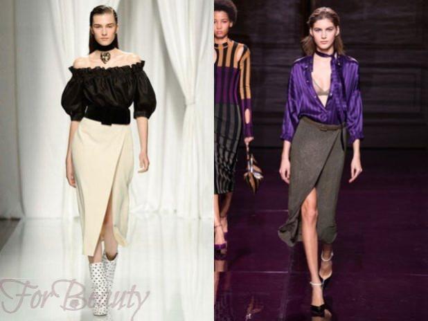 Модные длинные юбки с запахом 2018 года модные тенденции