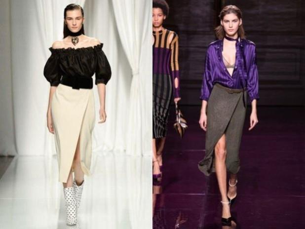 Модные длинные юбки с запахом 2018 2019 года