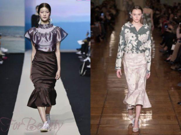 Длинные юбки 2018 года модные тенденции годе