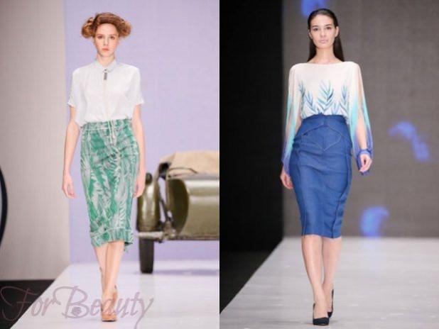 Модные летние юбки-карандаш 2018 года модные тенденции