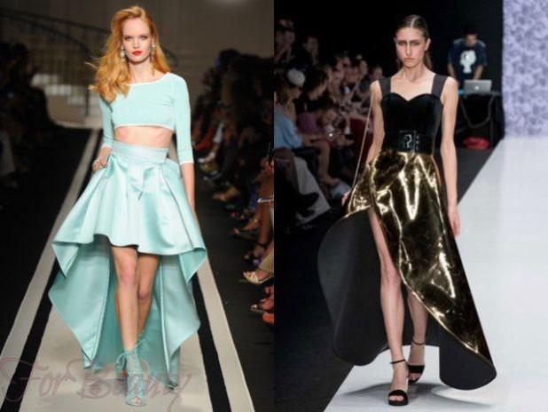 Модные юбки 2018 года модные тенденции со шлейфом