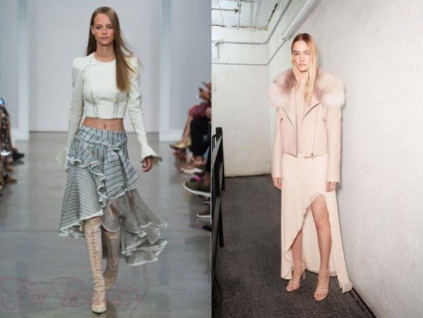 Юбки 2018 года модные тенденции ассиметрия