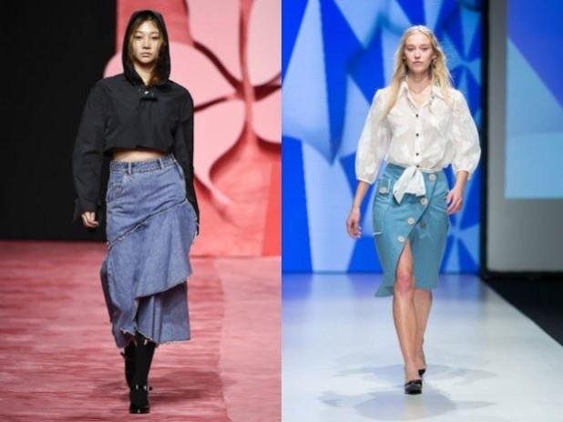 Джинсовые юбки 2018 2019 года модные тенденции