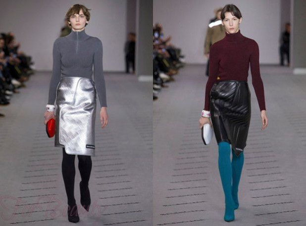 Кожаные юбки 2018 года модные тенденции