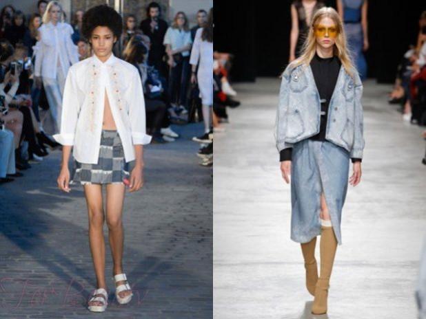 Джинсовые юбки 2018 года модные тенденции фото