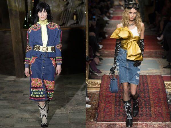 Джинсовые стильные юбки 2018 года модные тенденции