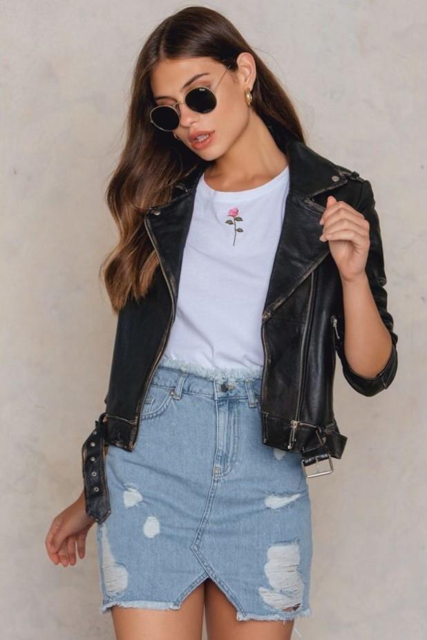 Джинсовые юбки с потертостями 2018 2019 года модные тенденции