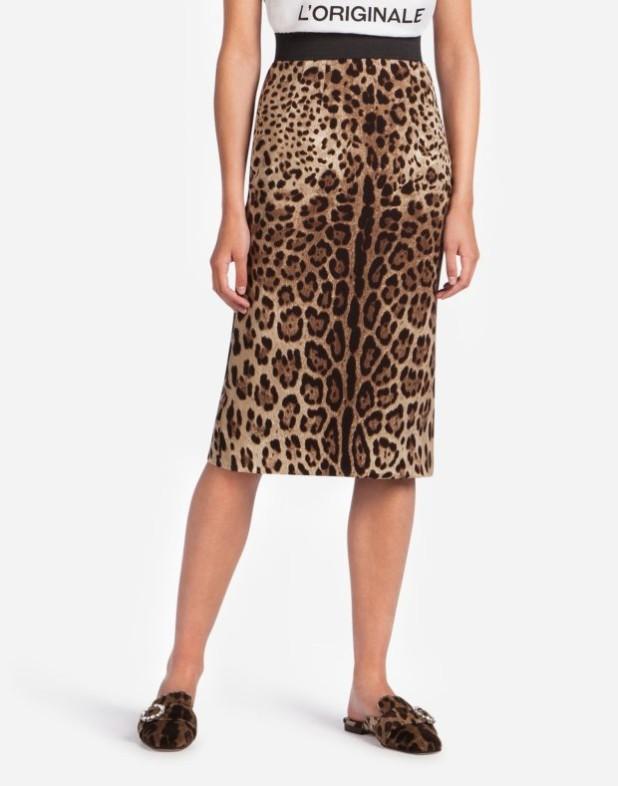 Модная юбка 2018 2019: леопардовая