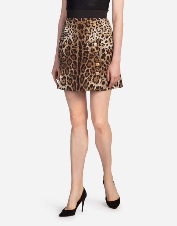 леопардовая короткая