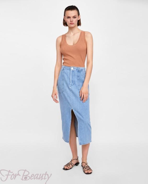 джинсовая юбка 2018 года