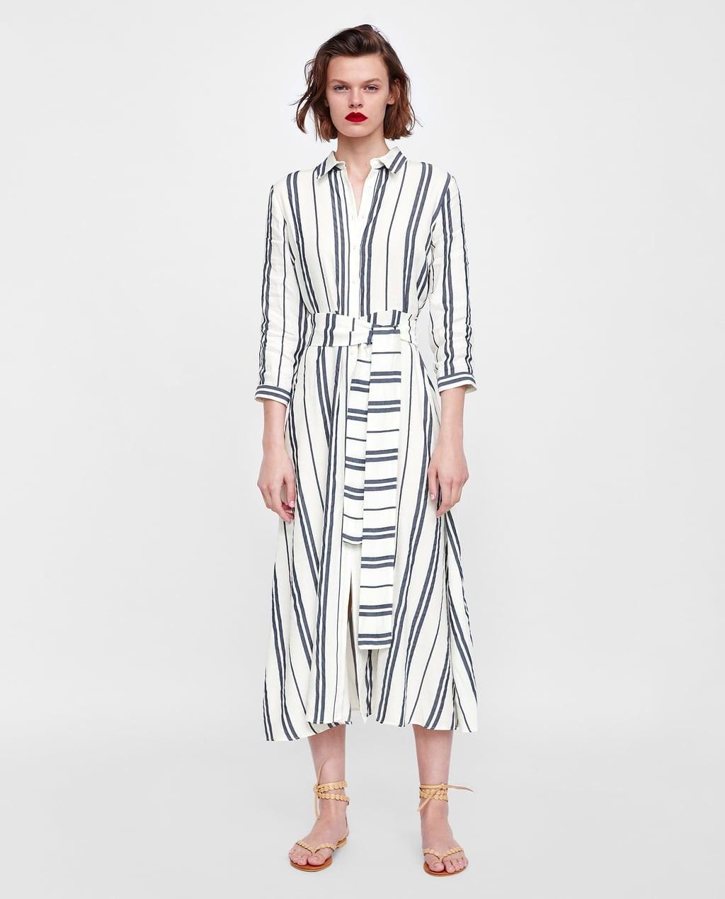 1d294b0d81ad074 Мода 2019-2020 года в женской одежде: полосатое платье