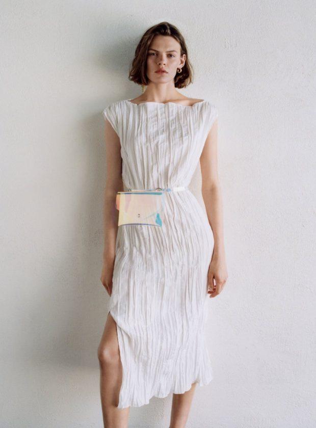 Мода 2019-2020 года в женской одежде: белое платье