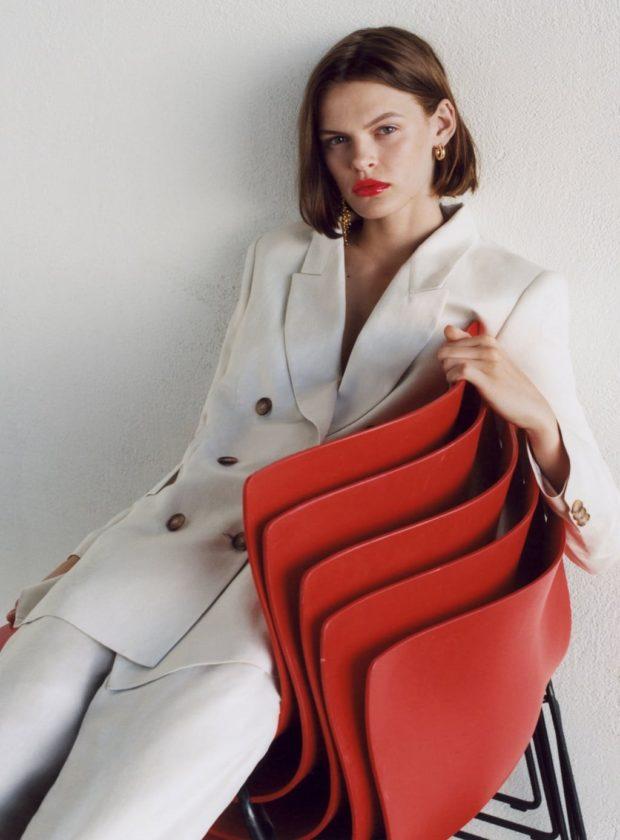 Мода 2019-2020 года в женской одежде: белый костюм
