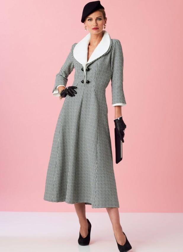 мода в одежде: пальто мелкая клетка