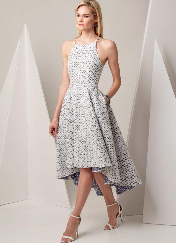 мода в одежде: платье с узорами