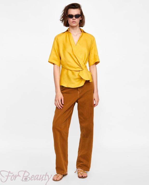 модная желтая блузка 2018