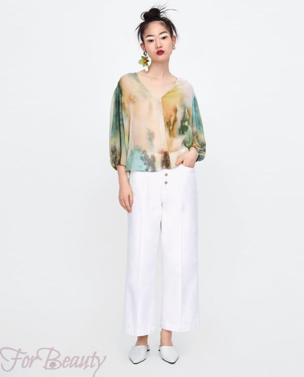 модная цветная блузка 2018
