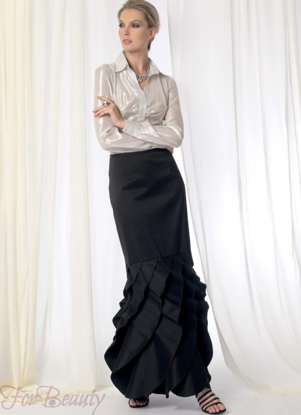 модная черная юбка 2018