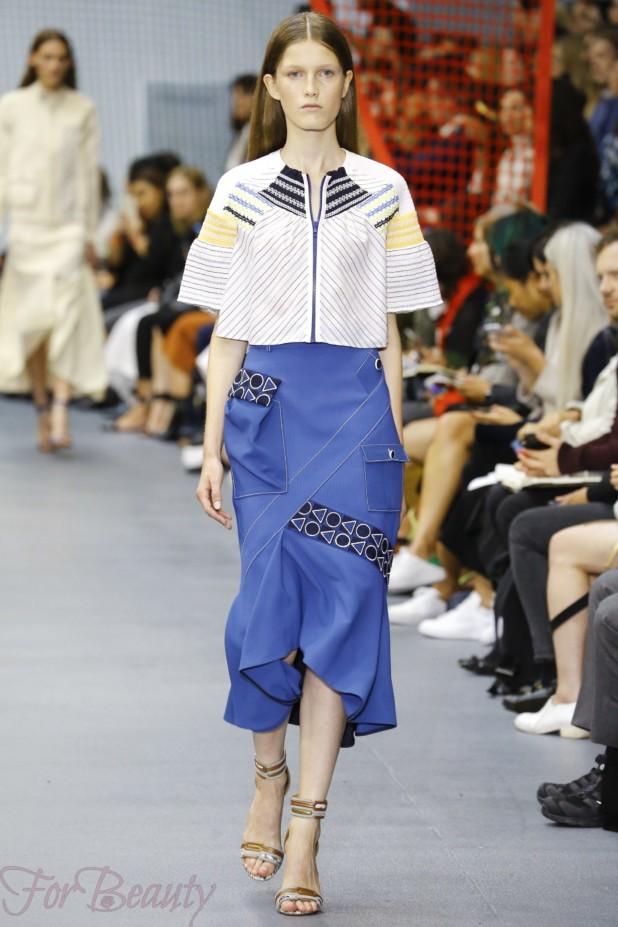 модная синяя юбка 2018