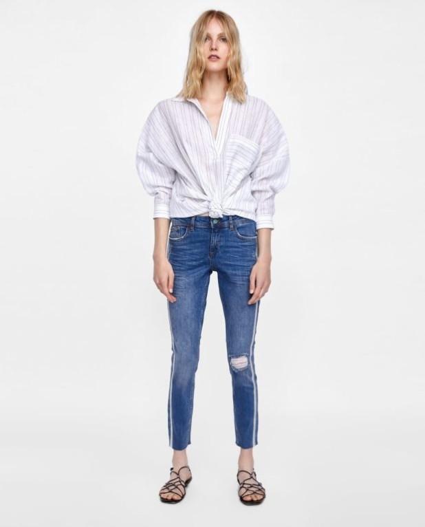 мода в одежде: джинсы и рубашка оверсайз