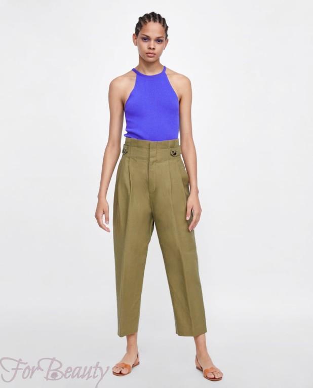 модные зеленые женские брюки 2018
