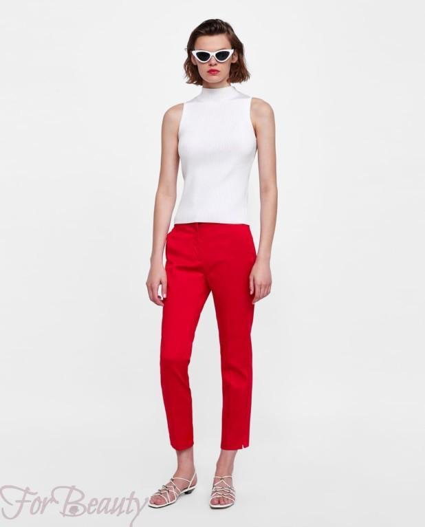 модные красные женские брюки 2018