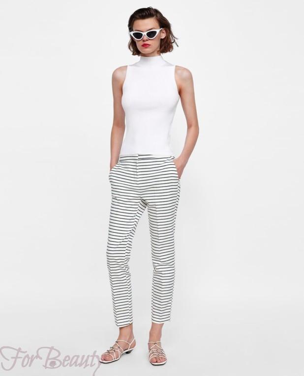 модные полосатые женские брюки 2018
