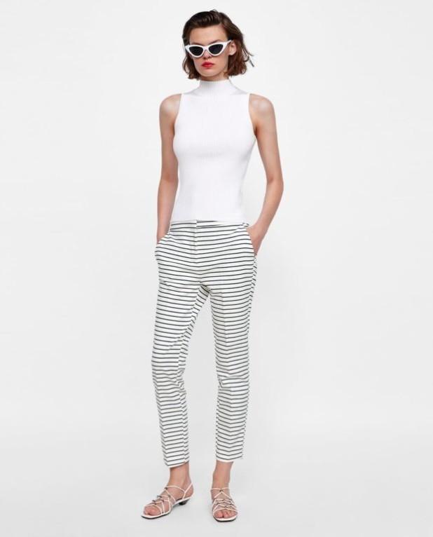 модные полосатые женские брюки