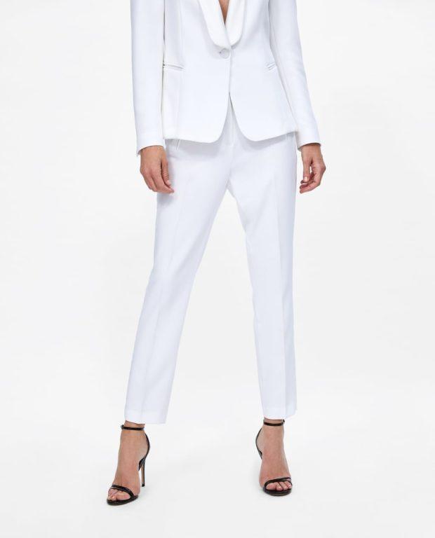 модные белые женские брюки