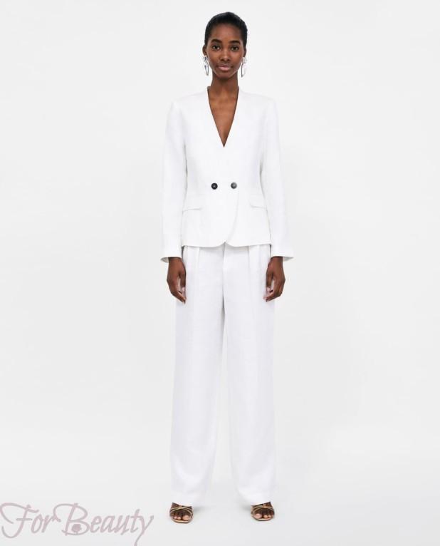 модный белый костюм женский 2018