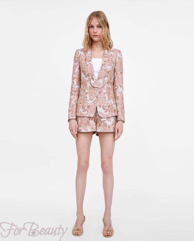 модный розовый костюм женский 2018