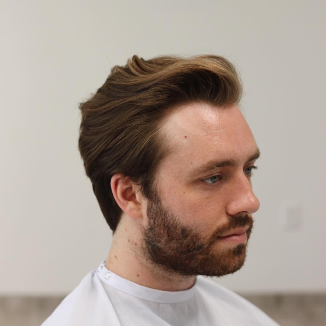 Мужские прически при круглом лице с бородой
