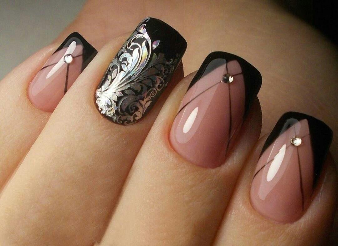 Стильные френч рисунки на ногтях