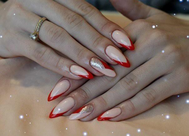 Дизайн шеллака на длинные ногти